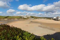 Porth beach Newquay Cornwall England UK Stock Photo