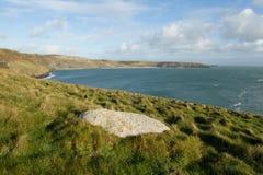 Porth Ceiriad Bay. Coastal vista of Porth Ceiriad bay near Abersoch on the Lleyn peninsular coast of North Wales, UK Royalty Free Stock Photo