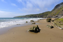 Porth Ceiriad Beach Royalty Free Stock Photo