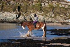 Porth Daffarch Beach Stock Images
