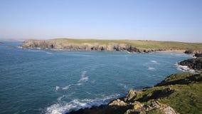 Porth Joke beach and coast next to Crantock bay Cornwall England UK near Newquay stock footage