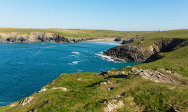 Porth Joke beach an coast next to Crantock Cornwall England UK near Newquay Stock Photo