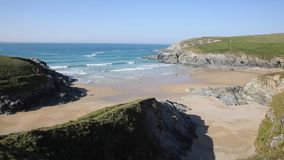 Porth Joke beach next to Crantock bay Cornwall England UK near Newquay stock video