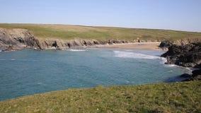 Porth Joke beach next to Crantock bay Cornwall England UK near Newquay stock footage