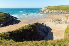Porth Joke beach next to Crantock bay Cornwall England UK near Newquay Stock Images
