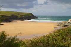 Porth Joke beach next to Crantock Cornwall Royalty Free Stock Photo