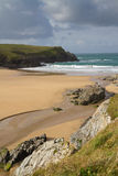 Porth Joke beach next to Crantock Cornwall Stock Photos
