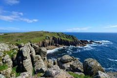 Porth Loe auf der Cornwall-Küste Lizenzfreie Stockfotos