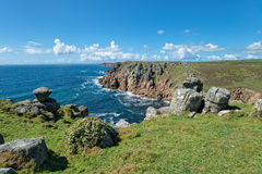 Porth Loe Cove in Cornwall Royalty Free Stock Image