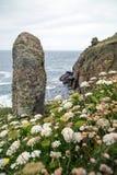Porth Loe perto de Porthgawwa Cornualha Reino Unido Inglaterra fotos de stock royalty free