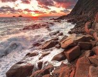Porth Nanven stockfoto