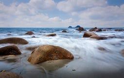 Porth Nanven błękit Zdjęcie Royalty Free