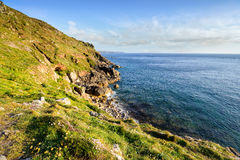 Porth Nanven Cliffs Royalty Free Stock Photos