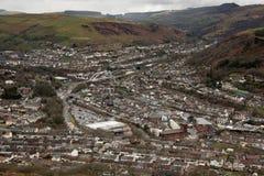 Porth, Rhondda Cynon Taff. View of Porth from the Glyn Mountain, Rhondda Cynon Taff, Wales Royalty Free Stock Photos