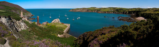 Porth Wen Panorama Royalty Free Stock Photos
