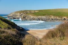 Porth-Witzstrand durch Crantock Nord-Cornwall England Großbritannien nahe Newquay Lizenzfreie Stockfotos