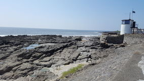 Porthcawl Coastline South Wales. Rocky coastline Porthcawl South Wales stock photos