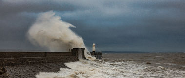 Free Porthcawl Harbour Seawall Royalty Free Stock Photos - 78412498