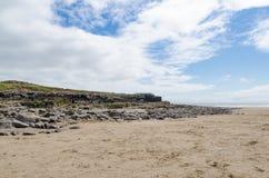 Porthcawl Rocks. Porthcawl Beach in South Wales, UK Royalty Free Stock Image