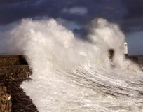 Porthcawl High Tide Royalty Free Stock Photography