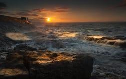 Porthcawl sunrise stock image