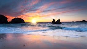Porthcothan Bay Sunset Stock Image