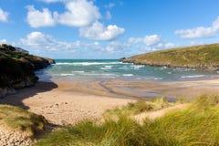 Porthcothan Trzymać na dystans Cornwall Anglia UK Kornwalijski północny wybrzeże zdjęcia royalty free