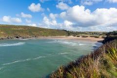 Porthcothan zatoka i plaży Cornwall Anglia UK Kornwalijski północny wybrzeże Fotografia Royalty Free