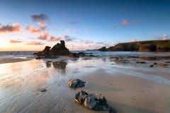 Porthcothan zatoka w Cornwall obrazy royalty free