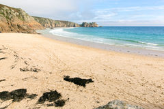 Porthcurno beach Cornwall England UK Stock Photo