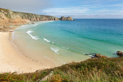Porthcurno beach Cornwall England UK Stock Photography