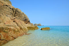 Porthcurno Beach Royalty Free Stock Images