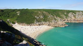 Porthcurno beach in Cornwall Stock Photo