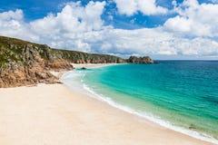 Porthcurno Cornwall England Lizenzfreies Stockfoto