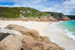 Porthcurno Cornwall England Royalty Free Stock Photos