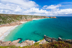 Porthcurno Cornwall England Stock Photos