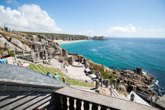PORTHCURNO, CORNWALL, ENGLAND - July 25: Minack Theater, Coastal open-air ampitheater Royalty Free Stock Image