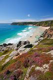 Porthcurno, Cornwall, UK. Royalty Free Stock Image