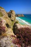 Porthcurno, Cornwall, UK. Royalty Free Stock Photos