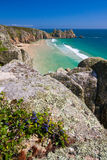 Porthcurno, Cornwall, UK. Royalty Free Stock Photo