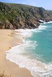 porthcurno na plaży zdjęcia royalty free