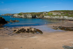 Porthdafarch Beach Stock Photo
