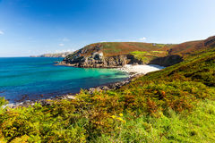 Portheras Cove Cornwall Stock Images