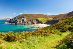Portheras Cove Cornwall Stock Photo