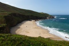 Portheras Cove Cornwall secluded beach on the Cornish coast South West of St Ives Royalty Free Stock Photos