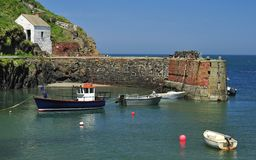 Porthgain harbour, Pembrokeshire, Wales stock photography