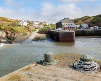 Porthgain Pembrokeshire威尔士 图库摄影