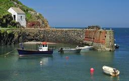 Porthgain schronienie, Pembrokeshire, Walia fotografia stock