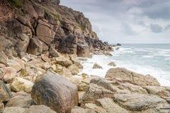Porthgawwa Cornualha Reino Unido Foto de Stock Royalty Free