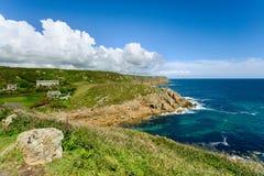 Porthgwarra op de Kust Van Cornwall Stock Afbeelding